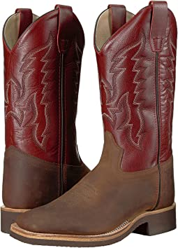 Old West Kids Boots - Broad Square Toe Crepe (Big Kid)