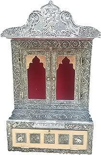 Dinesh Handicraft Small Oxidised Pooja Mandir/mandap/Temple.