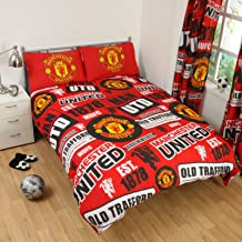 Manchester United FC Patch UK Double/US Full Duvet Cover and Pillowcase Set