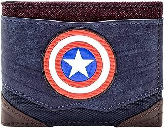 Marvel Captain America Textured Suit Blue ID & Card Bi-Fold Wallet
