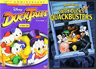 Quackers Daffy Disney DuckTales Vol. 1 DVD Animated Series + Looney Tunes Daffy Duck's Quackbusters Duck Dodgers Bonus Cartoon