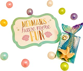 Mermaid Gifts For Girls -Mermaid Tail Soap Toy Gift -Girl Kids Toys/Stuff -All Age/Ages -Best Hand & Body Wash Soap Bar - Little Kid Small Present - Childrens Adult Stocking Stuffer Party Favors