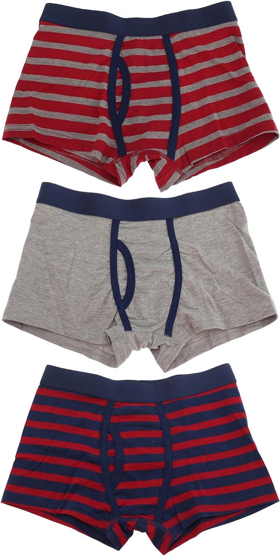 Tom Franks Boys Trunks with Keyhole Underwear (3 Pack)
