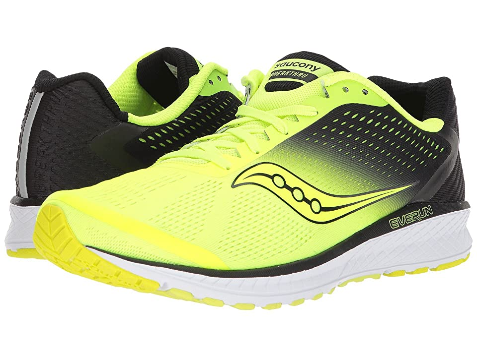 Saucony Breakthru 4 (Citron/Black) Men