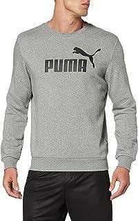 Puma ESS Crew Sweat TR big Logo Shirts Homme, Gris (Medium Gray Heather), FR : M (Taille Fabricant : M)