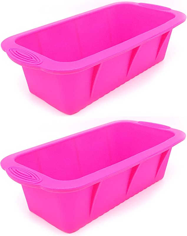 Richohome Silicone Mold And Loaf Pan Soap Mold 2 Pack Pink