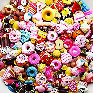 Incredible art Pieces Mixed lot Food Resin Flatback cute Cabochons Decoden Pieces,20pc per packet. (Food)