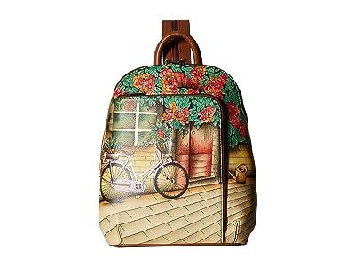 Anuschka Handbags 487 Sling Over Travel Backpack (Vintage Bike) Handbags