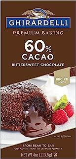 Ghirardelli Premium 60% Cacao Bittersweet Chocolate Baking Bar, 4 OZ Bar (12 Count)
