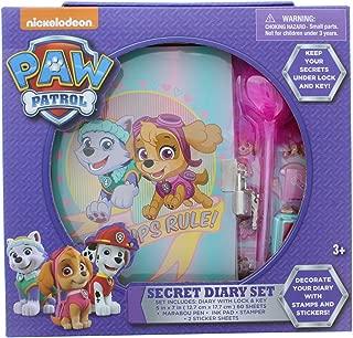 Paw Patrols Secret Purple Diary Set for Girls