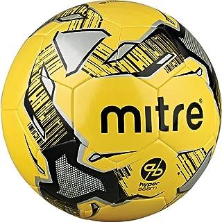 Mitre Calcio Hyperseam Soccer Ball, Yellow/Black/Silver, Size 5