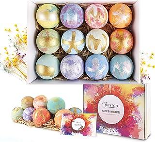 BESTOPE Bath Bombs Gift Set 12 Fizzies, Shea & Coco Butter Dry Skin Moisturize, Perfect for Bubble & Spa Bath. Handmade Bi...