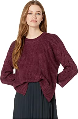 We've Got Cable Soft Sweater with Cable Knit Sleeves