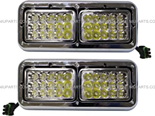 LED Headlights with Bezel - LH and RH (Fit: Kenworth T400 T600 T800 W900B W900L Classic 120/132. Peterbilt 378 379. Western Star 4900)