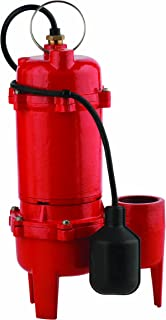 Red Lion RL-WC50TA 1/2-HP 5600-GPH Sewage Pump with Tethered Switch, Cast Iron