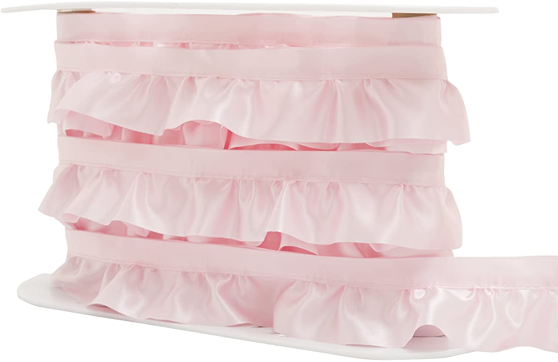 Wrights Ruffled Quilt Binding, 1-7/8-Inch by 8-Yard, Soft Pink