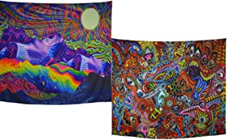 Amhokhui Psychedelic Tapestry Trippy Tapestry Abstract Colorful Hippie Tapestry