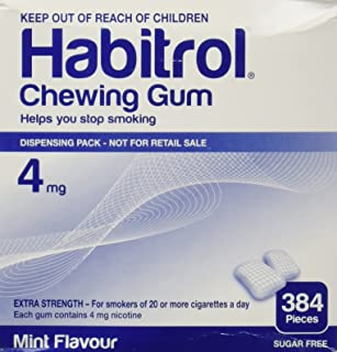 Habitrol Nicotine Gum 4mg Mint BULK 384 pieces