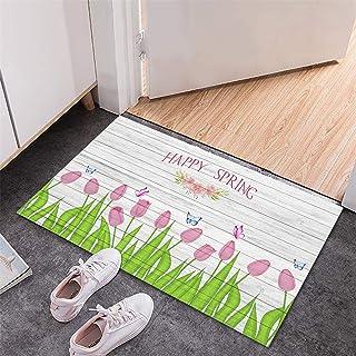 BISXOTY Mother's Day Mat,Easter Day Decoration Doormat,Anti-Skid Bottom Floor Mat,Indoor Outdoor Carpet,Entrance Mat,Non-S...