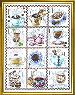 Design Works Crafts Counted Cross Stitch, Coffee Break, 12 x 14 Inches