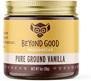 Pure Ground Vanilla Powder | Pure Madagascar Grade A Ground Vanilla Beans for Bakers, Chefs, Ice Cream Makers, and Home Co...