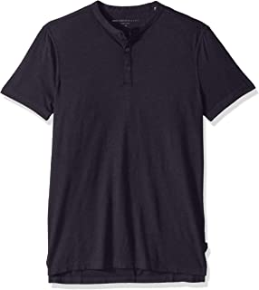 Men's Short Sleeve Henley in Burnout