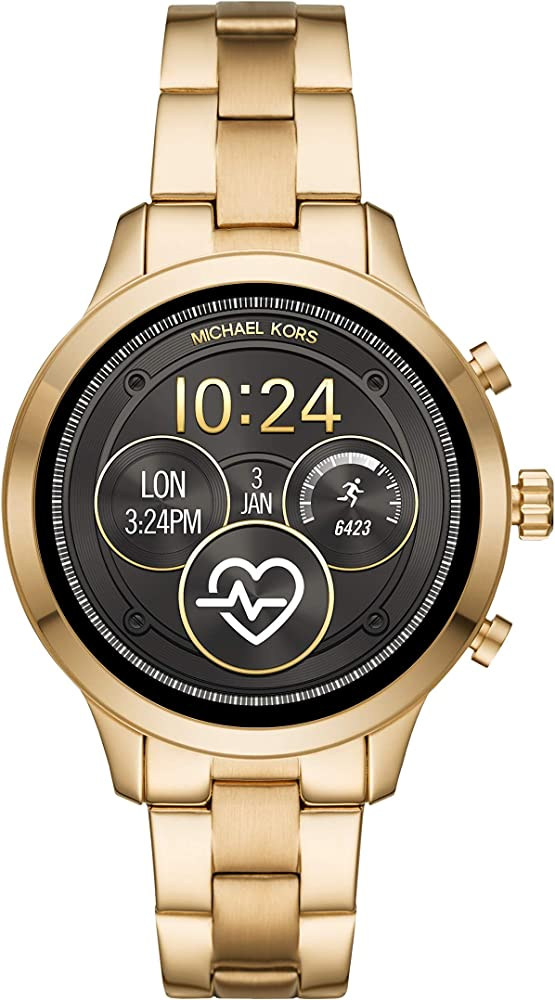 Smartwatch da donna michael kors  con wear os by google con frequenza cardiaca, gps MKT5045