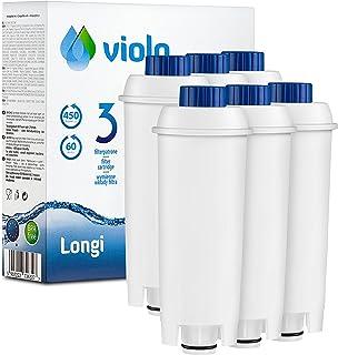 Violo Lot de 6 cartouches filtrantes de rechange compatibles avec les machines à café DeLonghi DLS C002 et machines à café...