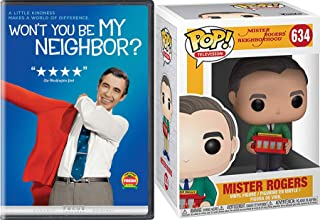 """Kindness Makes A World of Difference Mr. Rogers Neighborhood """"Won't You Be My Neighbor"""" DVD + Fred Funko Figure with Knit Sweater - Creative 2 Pack"""