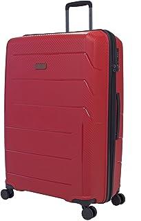 Maleta Rígida de Viaje - Luggo LiteGo Spinner Grande - 100% Polipropileno (28, Rojo)