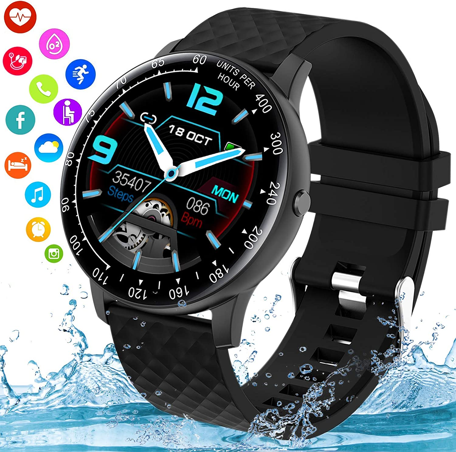 Topkech Smart Watch Smartwatch for Factory outlet Philadelphia Mall Ip67 Waterproo Phones Android