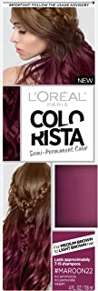L'Oreal Paris Hair Color Colorista Semi-Permanent for Brunette Hair, Maroon