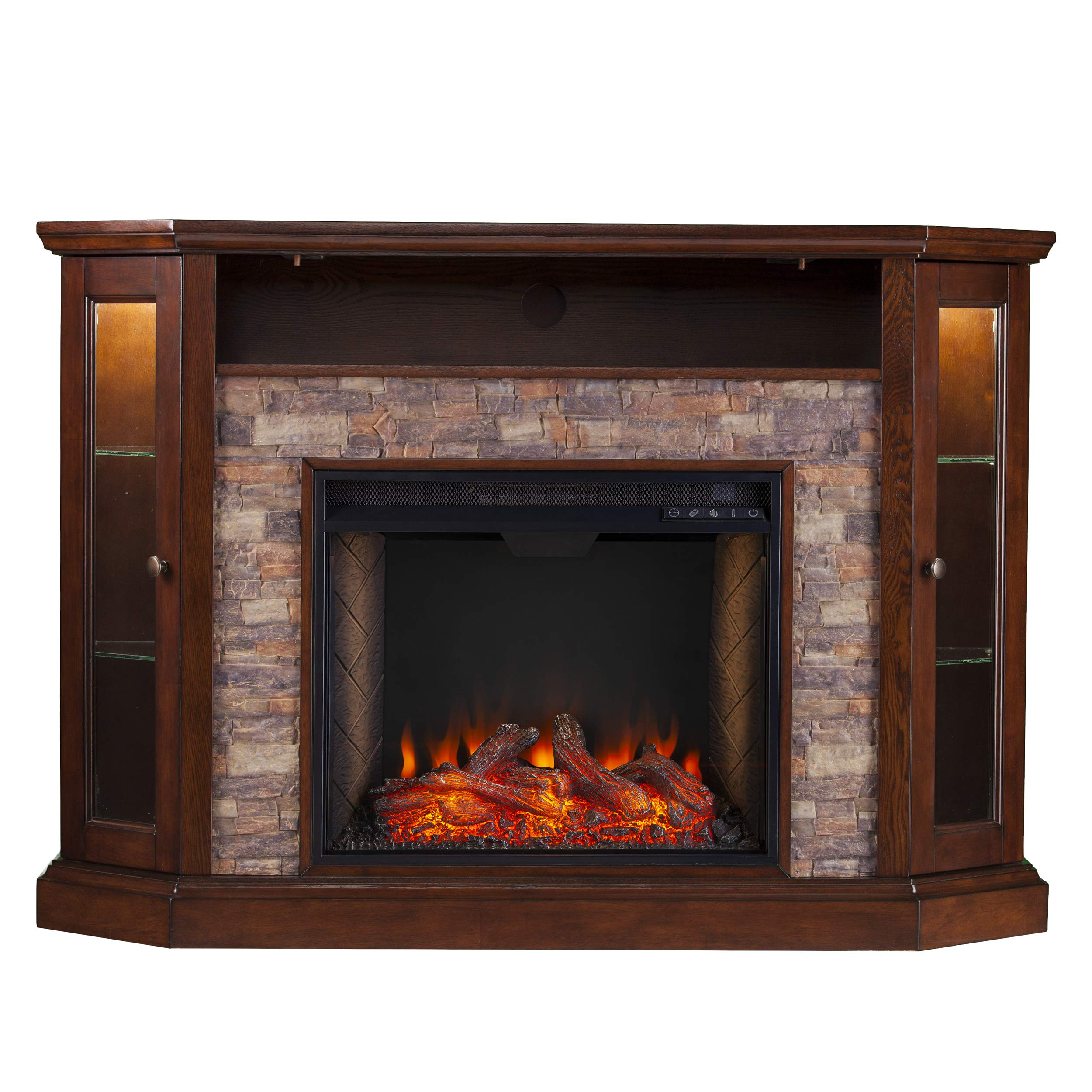 Southern Enterprises Convertible Alexa Enabled Fireplace