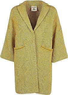 SEMI-COUTURE Luxury Fashion Womens Y9AV24B20 Yellow Coat | Fall Winter 19