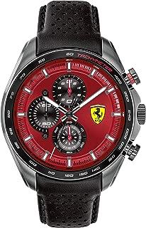 Men's SPEEDRACER Stainless Steel Quartz Watch with Leather Calfskin Strap, Black, 22.5 (Model: 0830650)