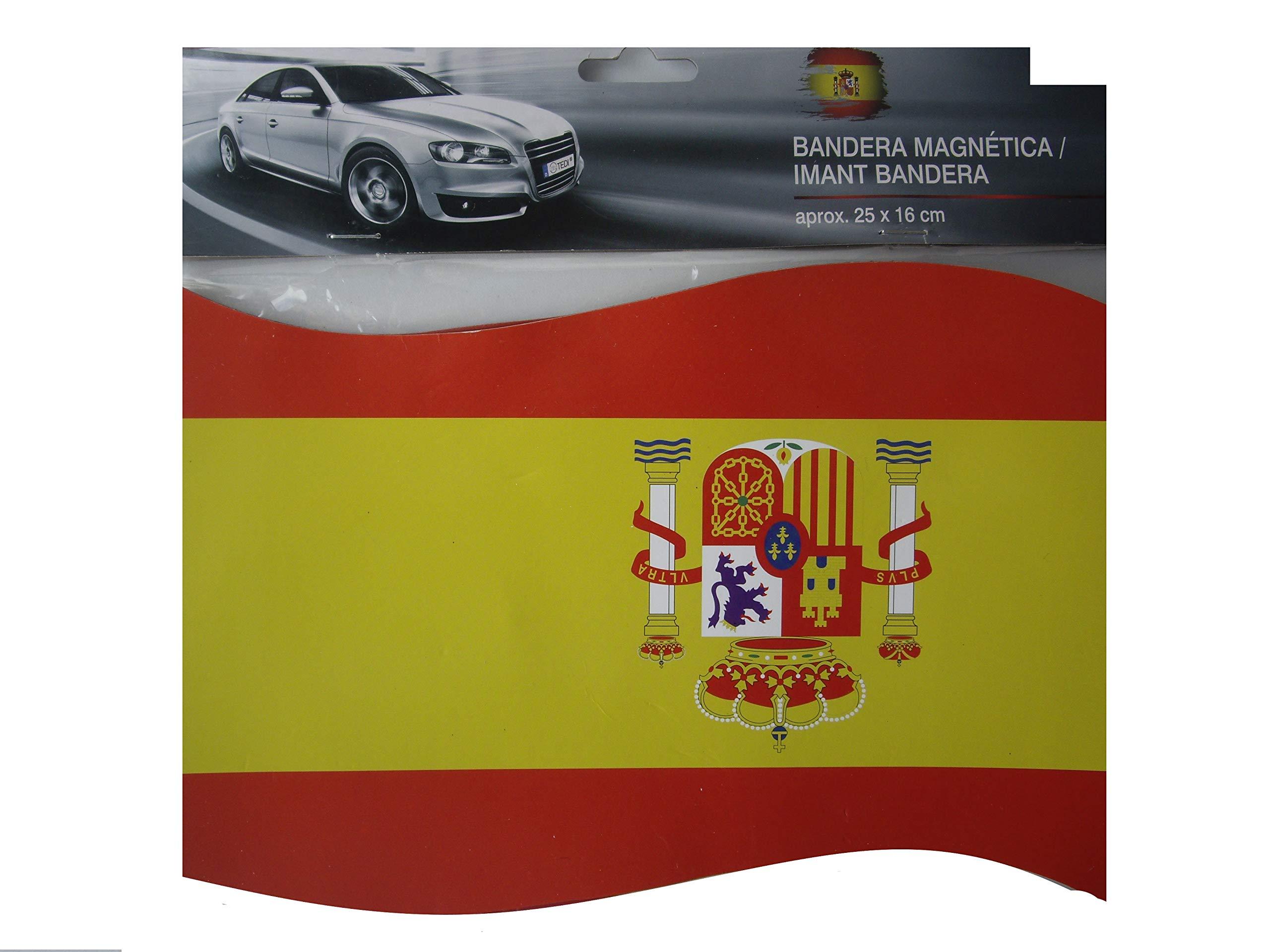 Span Bandera Magnetica Iman para Coche España (25 x 16 cm): Amazon.es: Coche y moto