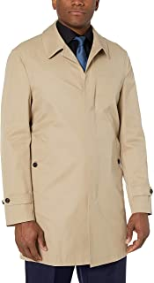 Amazon Brand - BUTTONED DOWN Men's Water-Repellant Cotton-Blend Car Coat