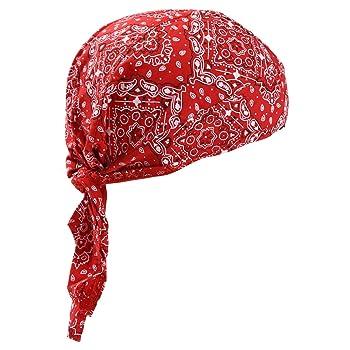 【g-netshop】バンダナキャップ バンダナ コットン 帽子 三角巾 レディース メンズ 調理 アウトドア インナーキャップ