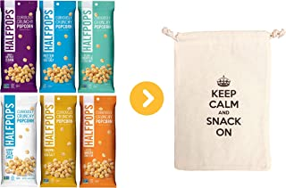 Halfpops Gluten Free Non-GMO Curiously Crunchy Popcorn 4.5oz 6 Flavor Variety Each1 (Pack of 6) (6 Flavor Variety)