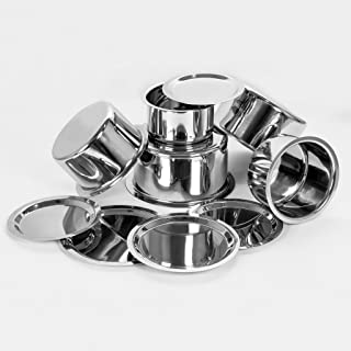 Sumeet 5 Pcs Stainless Steel Induction & Gas Stove Friendly, Heavy 18 Gauge, Flat