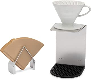 Pour Over Coffee Stand with Detachable Coffee Filter Holder | 100% Recyclable, Durable & Easy to Use | Designed for Hario V60, Kalita Wave Drip Coffee Makers & Hario V60 Filters
