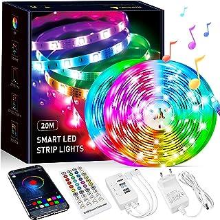 Tiras Led 20 Metros, Beaeet Luces LED Sincronización de Música Bluetooth, Control de Aplicaciones, Remoto de 40 Botones, 5...