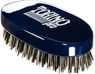 Torino Pro #430 - Boar Bristle Palm Hard Reinforced Hair Brush - Great for Thick Hair - Handheld Military Round square Design - Naturally Moisturize,Promote Circulation- Great 360 wave brush
