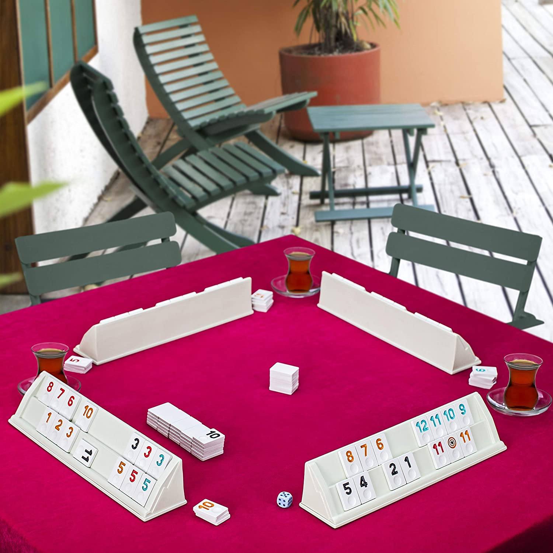 LaModaHome Star Travel Plastic White Rummy Set Brand new Okey Game 101 National uniform free shipping wit