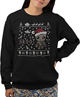 I Am Groot Xmas Sweat Shirt Jumper, Guardians of The Galaxy Christmas Spoof Sweater