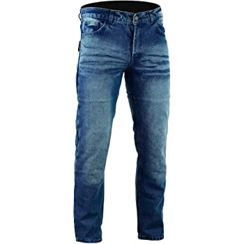58 Largo//Cintura 42 Longitud 34 4XL JET Pantalon Moto Hombre Jeans Kevlar Aramid Con Armadura TECH PRO , Gris