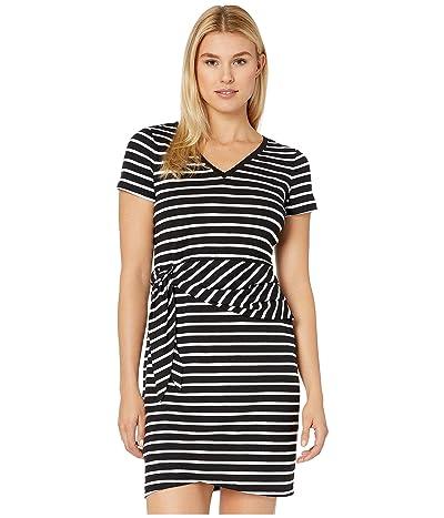 Tommy Bahama Sonoran Stripe Twist Short Sleeve Dress (Black) Women