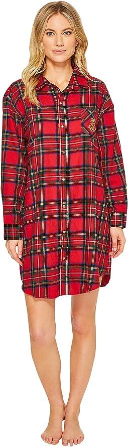 LAUREN Ralph Lauren - Brushed Twill Sleepshirt