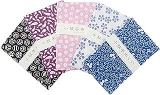 MIYAMOTO Japanese Traditional Towel Tenugui Small Pattern 5 type set Basic pattern-2 by KOMESICHI