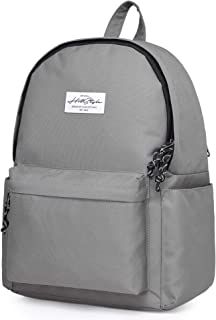 "CANDER 14"" Classic High School Backpack Bookbag, 15.7x11.8x5.5 in, Grey"